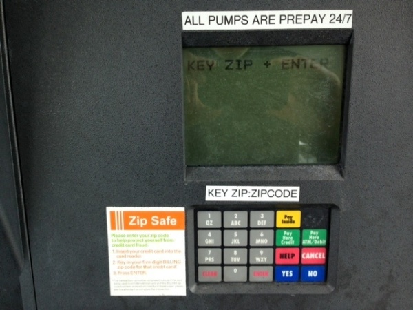 Gas pump interface